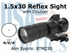 1.5x30 Red Dot Sight with Doubler / Cantilever Mount