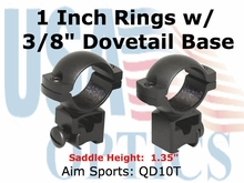 "1"" RINGS 3/8"" DOVETAIL-HIGH"