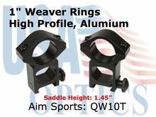 "1"" WEAVER RINGS-HIGH"