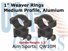 "1"" WEAVER RINGS-MEDIUM"