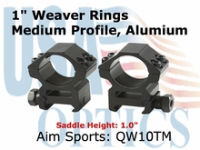"1"" WEAVER RINGS-MEDIUM (HEAVY DUTY)"