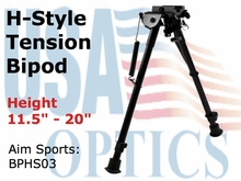 "10"" H. STYLE SPRING TENSION BIPOD/LARGE"