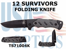 12 Survivors Folding Knife