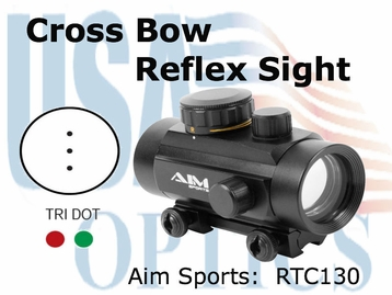 1x30 Dual Ill 3 Dot Reticle for Crossbow