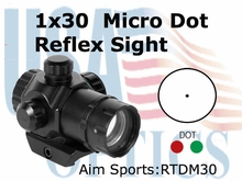 1x30 Dual Illuminated Micro Red Dot