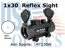 1x30 Red Dot Sight w/ Weaver Base & Flip UP Lens Covers