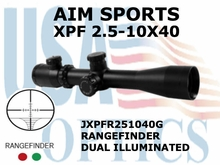 AIM SPORTS XPF 2.5-10X40 RANGEFINDER DUAL ILLUMINATED