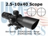 2.5-10X40 DUAL ILL. SCOPE WITH CUT SUNSHADE/MIL-DOT
