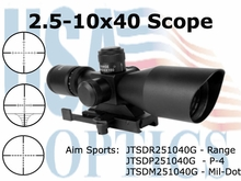 2.5-10X40 DUAL ILL. SCOPE WITH CUT SUNSHADE/P4 SNIPER