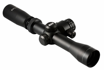 2-7X32 DUAL ILL. LONG EYE RELIEF SCOPE WITH RED LASER & RINGS