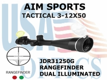 AIM SPORTS TACTICAL 3-12X50 RANGEFINDER DUAL ILLUMINATED