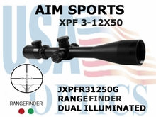 AIM SPORTS XPF 3-12X50 RANGEFINDER DUAL ILLUMINATED