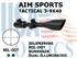 AIM SPORTS TACTICAL 3-9X40 MIL-DOT SUNSHADE
