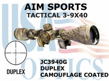 AIM SPORTS TACTICAL 3-9X40 DUPLEX CAMOUFLAGE COATED