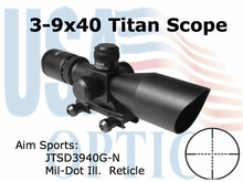 3-9X40 DUAL ILL. SCOPE WITH CUT SUNSHADE/MIL-DOT