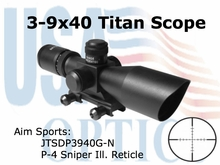 3-9X40 DUAL ILL. SCOPE WITH CUT SUNSHADE/P4 SNIPER