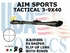 AIM SPORTS TACTICAL 3-9X40 P4 SNIPER WITH FLIP UP LENS' AND RINGS
