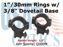 "30MM RINGS 3/8 DOVETAIL/1"" INSERT-MEDIUM"