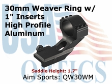 "30MM WEAVER RING/1"" INSERT-(CANTILEVER MOUNT)"