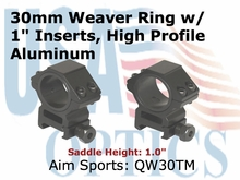 "30MM WEAVER RINGS/1"" INSERT (HEAVY DUTY) MEDIUM"