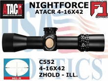 NIGHTFORCE ATACR 4-16x42 F1<BR> MIL-R WITH Z HOLD - ILLUMINATED
