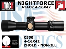 NIGHTFORCE ATACR 4-16X42 F1 H59 WITH Z HOLD - NON-ILLUMINATED