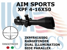 AIM SPORTS XPF 4-16X50 RANGEFINDER WITH SIDE PARALLAX