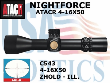 NIGHTFORCE ATACR 4-16x50 SFP<br> MIL-R ILLUMINATED