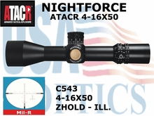 *NIGHTFORCE ATACR 4-16x50 SFP<br> MIL-R ILLUMINATED