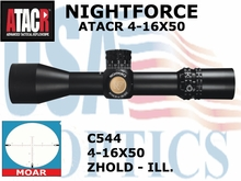 NIGHTFORCE ATACR 4-16x50 SFP<br> MOAR ILLUMINATED