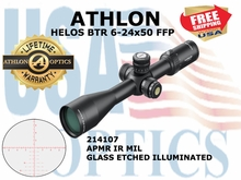 "ATHLON HELOS BTR 6-24x50 FFP APMR IR MIL ILLUMINATED  <STRONG><font color = ""red"">LIMITED AVAILABILITY - 1 LEFT! SHOW/SHOP DEMO</FONT></STRONG><BR>"