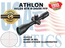 ATHLON HELOS BTR 8-34x56 FFP APMR IR MIL ILLUM (see video)
