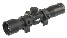 4X32 COMPACT MIL-DOT SCOPE WITH RINGS