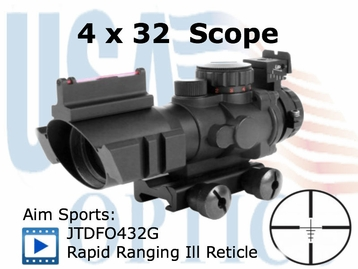 4x32 Dual Aiming Scope with Rapid Ranging Reticle