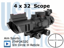 4x32 Dual Aiming Scope with 3/4 CIRCLE Reticle