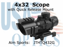 4X32 TRI-ILL. SCOPE WITH TRI-RAIL/QRM/3/4 CIRCLE