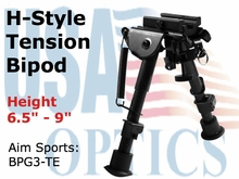 "6"" H. STYLE SPRING TENSION BIPOD/SMALL"