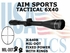AIM SPORTS TACTICAL 6X40 FIXED POWER WITH RINGS