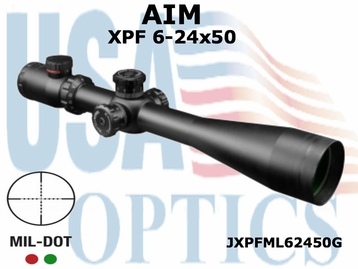 AIM XPF SERIES 6-24x50 RIFLESCOPE MIL-DOT DUAL ILLUMINATED