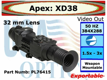 Apex 1.5-3x32 Thermal Scope