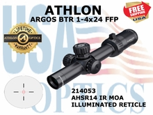 "ATHLON ARGOS BTR 1-4x24 AHSR14 IR MOA FFP ILLUMINATED <font color = ""red""> LIMITED AVAILABILITY</FONT>"