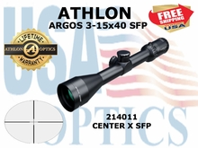 ATHLON ARGOS 3-15x40 CENTER X SFP