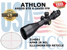 "ATHLON ARGOS BTR 6-24x50 APMR IR MIL FFP ILLUMINATED (VIDEO) <font color = ""red""> LIMITED AVAILABILITY</FONT>"