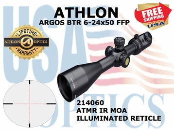 "Athlon Argos BTR 6-24x50 MOA FFP <font color = ""red""> LIMITED AVAILABILITY</FONT>"