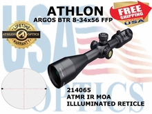 "ATHLON ARGOS BTR 8-34x56 ATMR IR MOA FFP ILLUMINATED  - <FONT COLOR = ""RED"">LIMITED AVAILABILITY</FONT>"