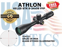 ATHLON HELOS BTR 8-34x56 FFP APLR2 IR MOA ILLUM (see video)