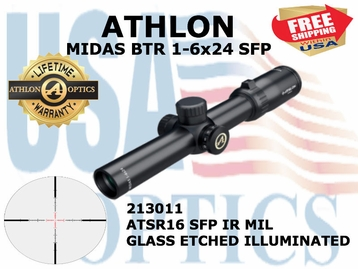ATHLON MIDAS BTR 1-6x24 ATSR16 SFP IR MIL ILLUMINATED (VIDEO)