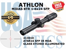 ATHLON MIDAS BTR 1-6x24 ATSR16 SFP IR MOA ILLUMINATED (VIDEO)