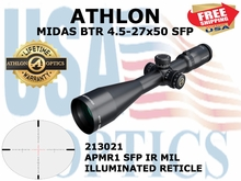 ATHLON MIDAS BTR 4.5-27x50 APMR1 SFP IR MIL ILLUMINATED (VIDEO)