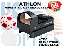 ATHLON MIDAS BTR OS11- RED DOT SIGHT OS11 RETICLE (show demo)